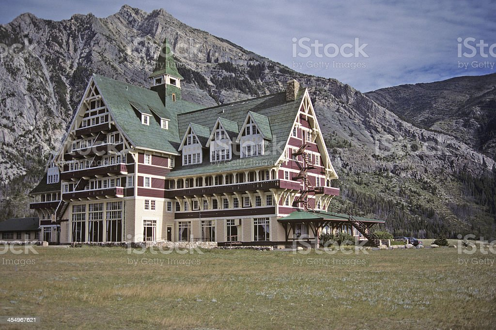 Prince Of Wales Hotel - Waterton royalty-free stock photo