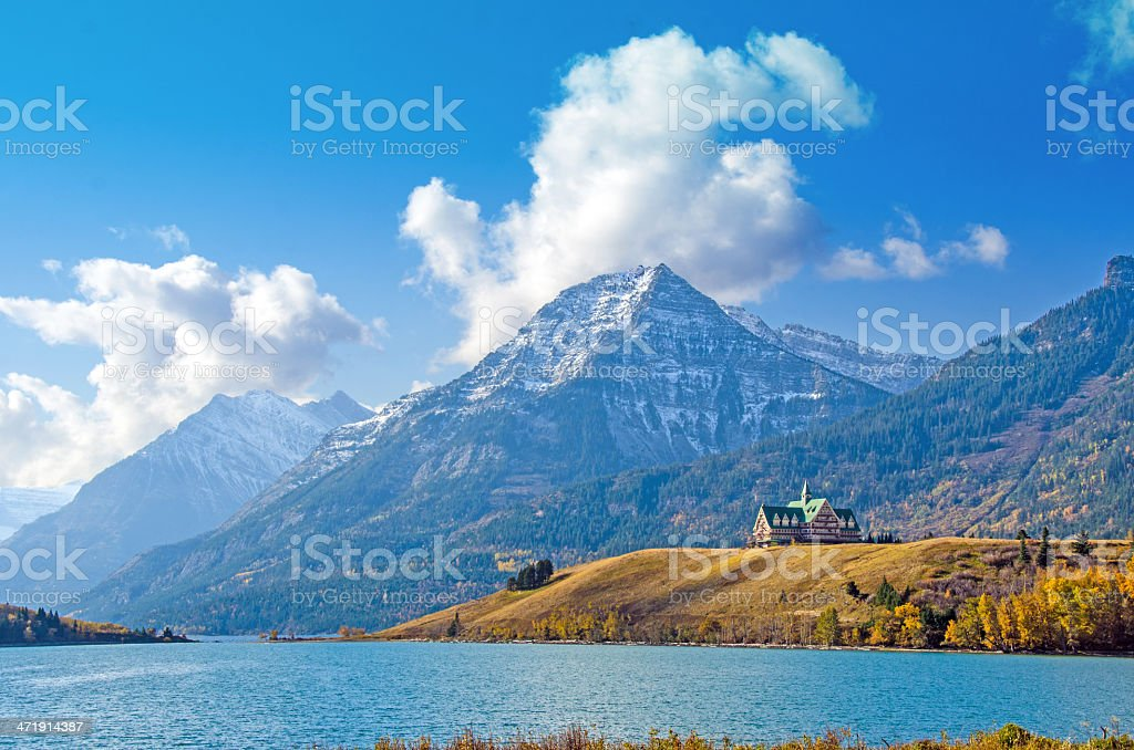 Prince of Wales Hotel, Waterton stock photo