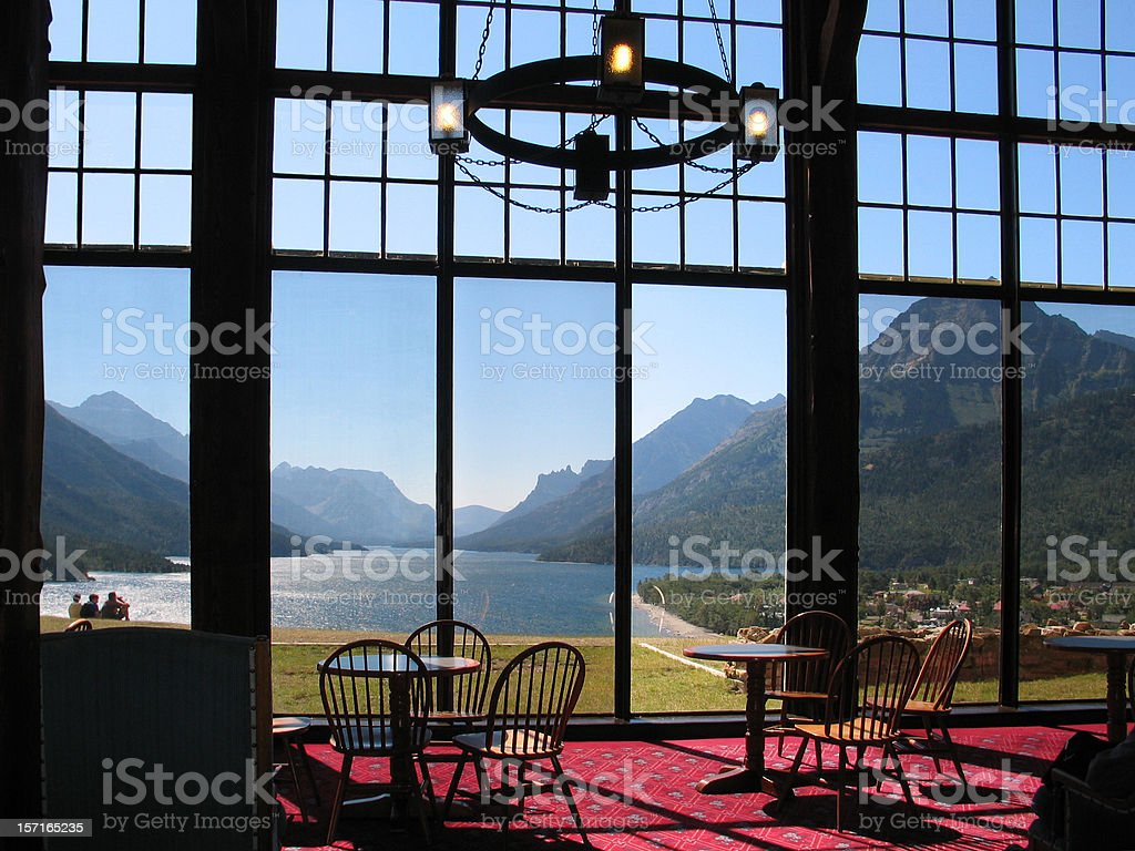 Prince of Wales Hotel-Interior stock photo