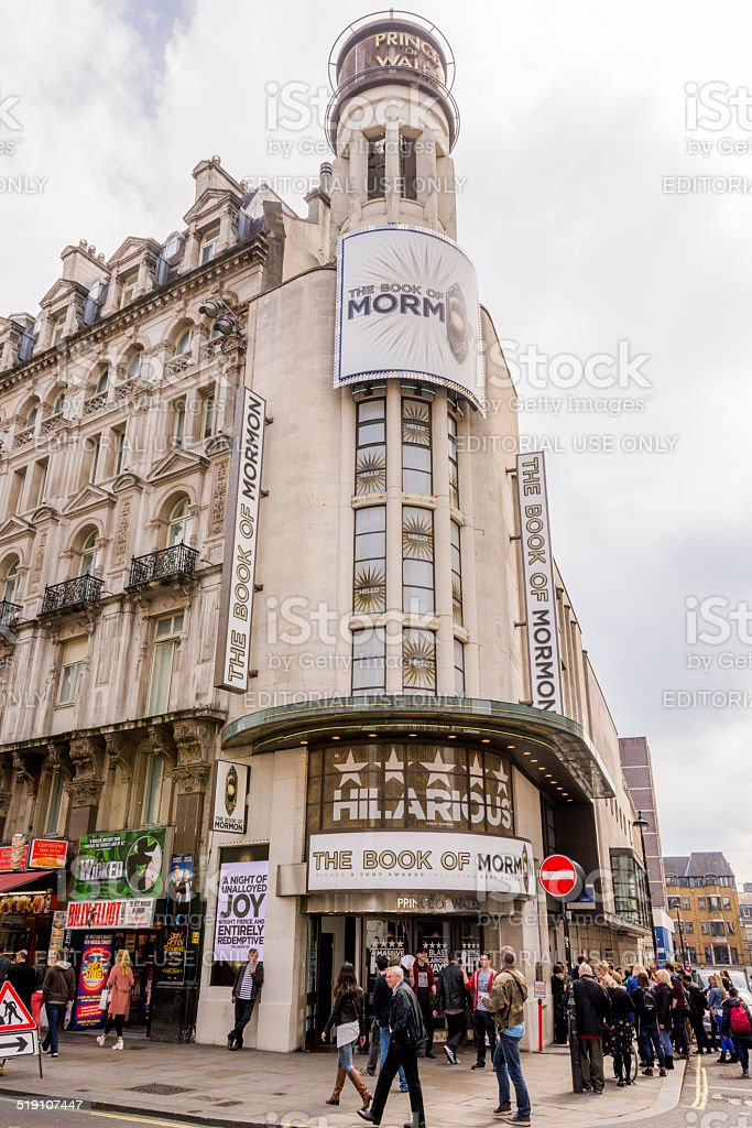 Prince of Wales Theatre - London stock photo