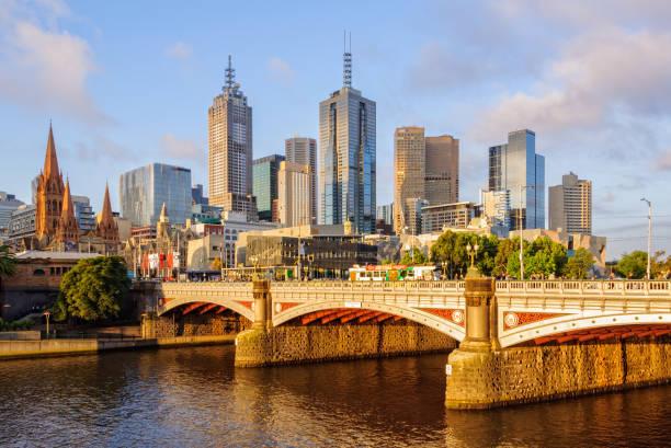 Princes Bridge - Melbourne stock photo