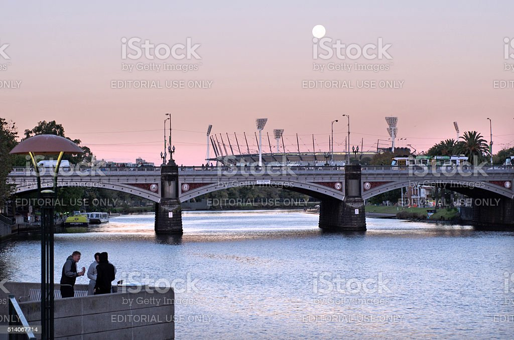 Princes Bridge - Melbourne stock photo