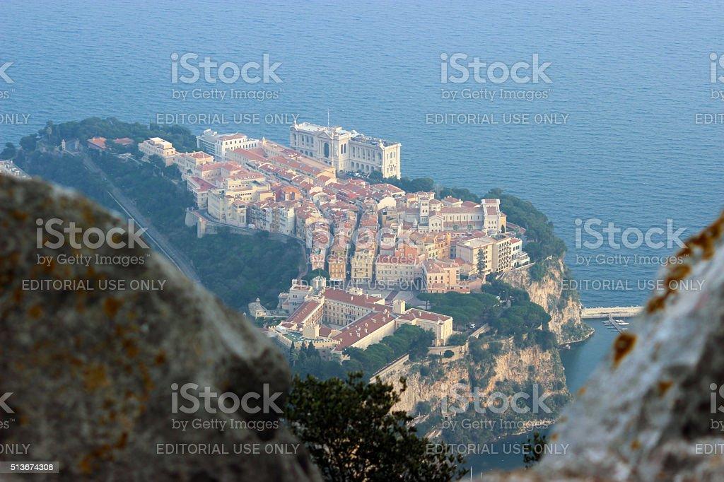 Prince's Palace of Monaco, Aerial View stock photo
