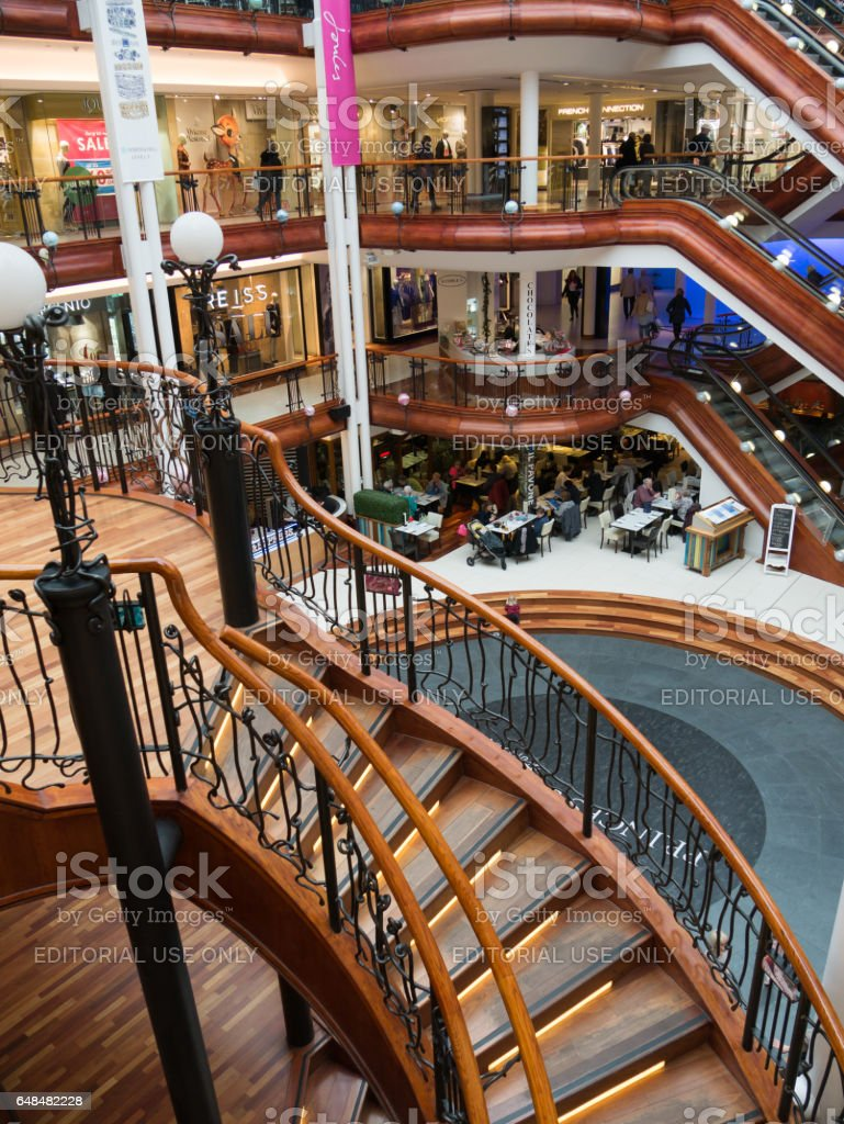 Princes Square shopping mall in Glasgow. stock photo