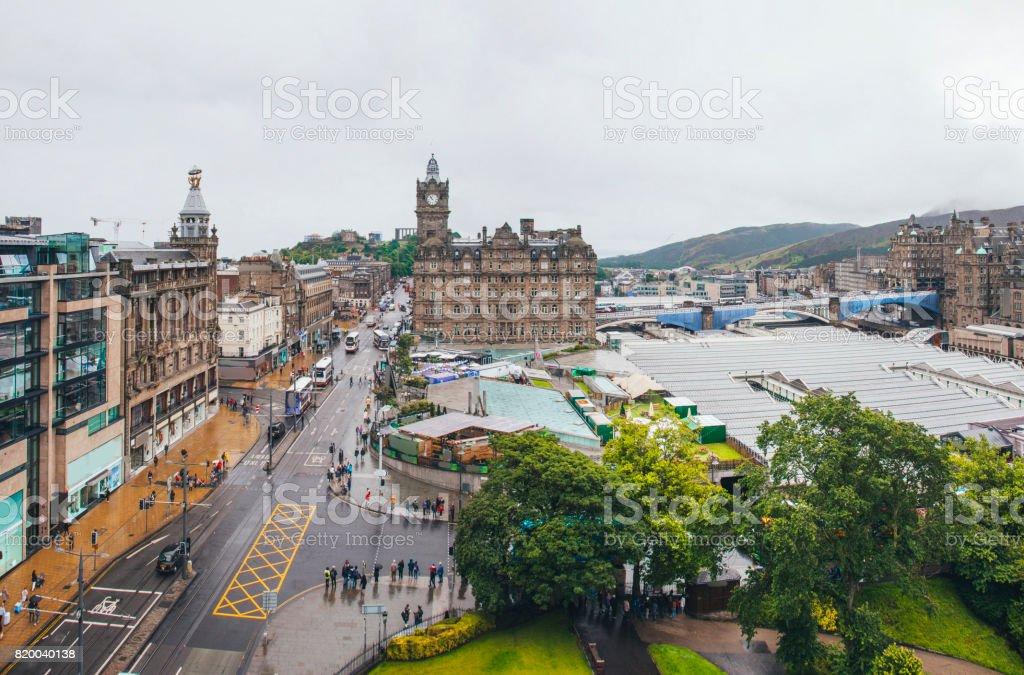 Princes Street, Edinburgh stock photo