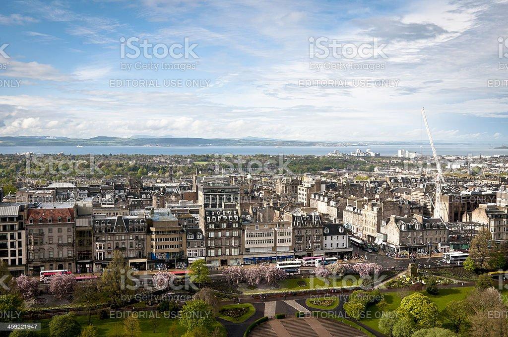 Princes Street Edinburgh, Scotland stock photo