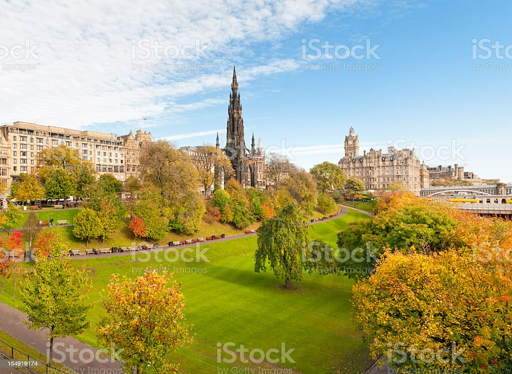 Princes Street Gardens, Edinburgh stock photo