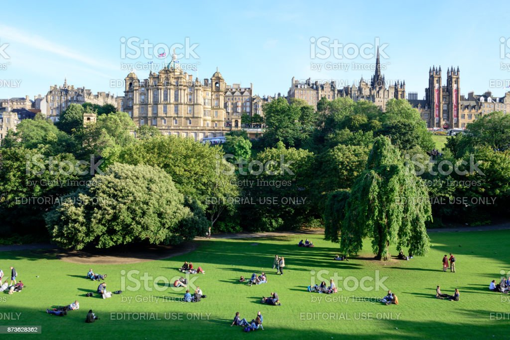 Princes Street Gardens, Edinburugh, Scotland stock photo