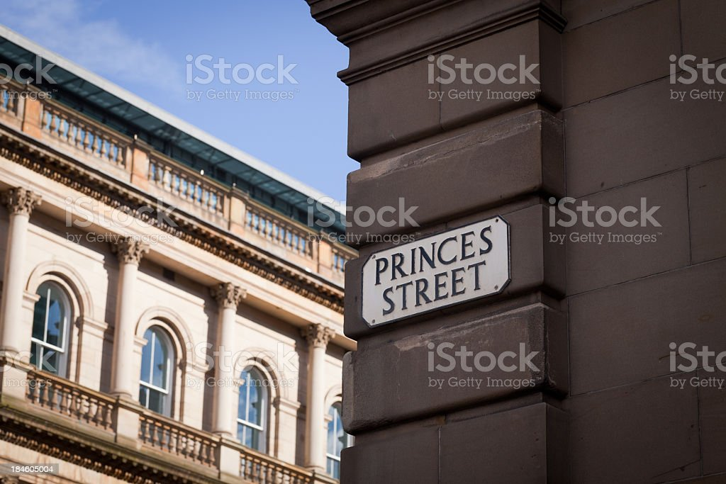 Princes Street stock photo