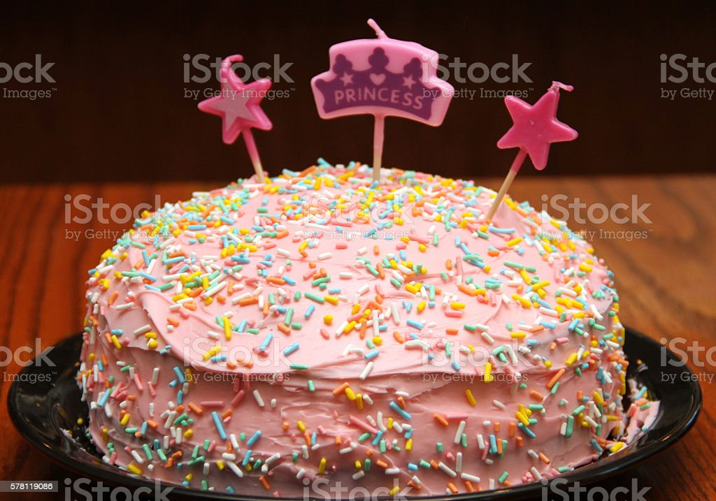 Fabulous Princess Birthday Cake Stock Photo Download Image Now Istock Birthday Cards Printable Benkemecafe Filternl