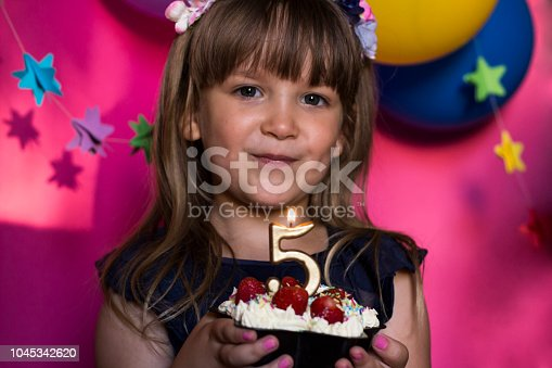 istock Princess birthday party. Anniversary, happiness, carefree childhood. 1045342620
