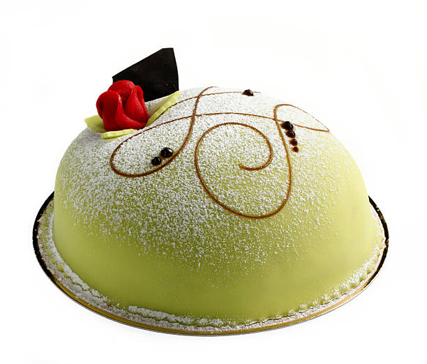 Princess cake Classic swedish cake with marzipan shot in  studio Marzipan stock pictures, royalty-free photos & images