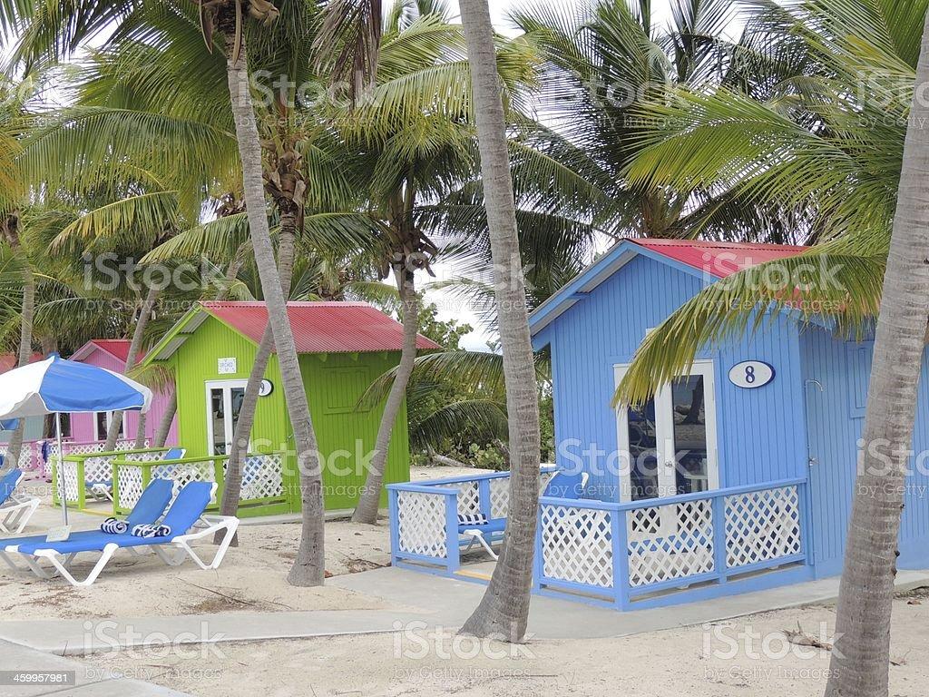 Princess Cays Beach Bungalows stock photo