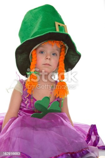 A Young Irish Girl Celebrating St. Patrick's Day