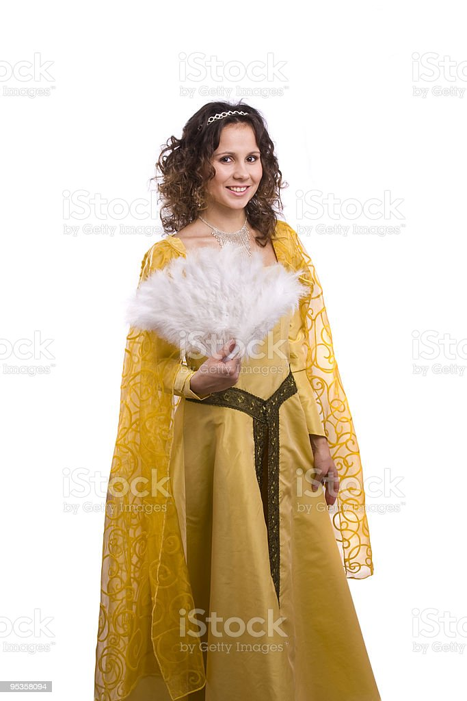 Princess costumes woman royalty-free stock photo