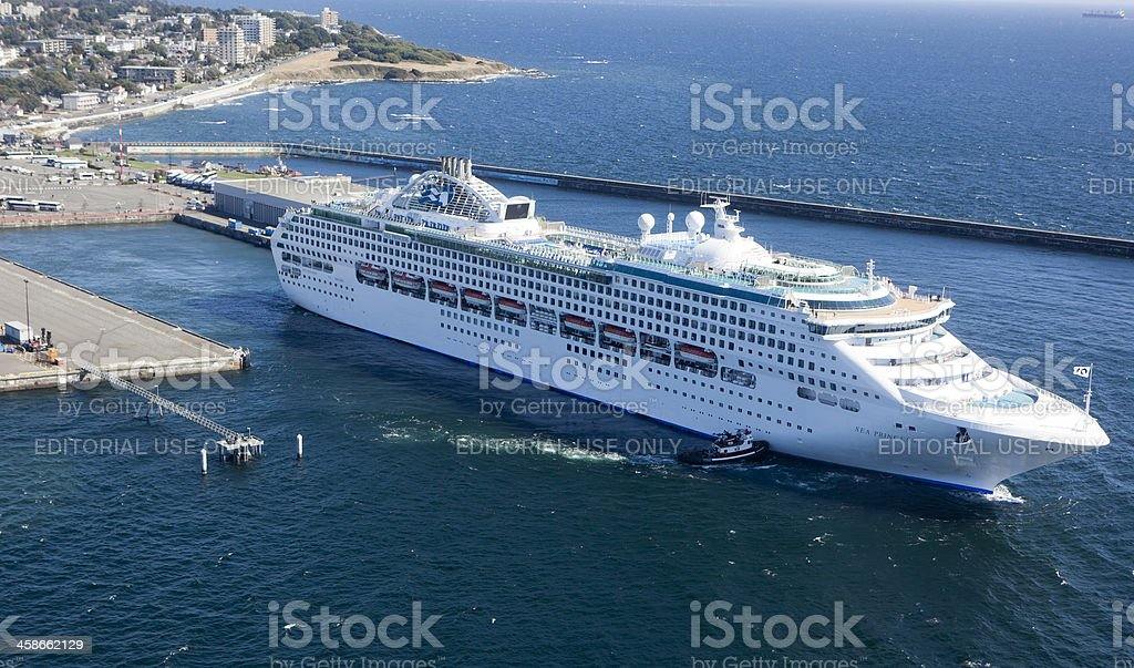 Princess Cruises Cruise Ship docked in Victoria, Canada royalty-free stock photo