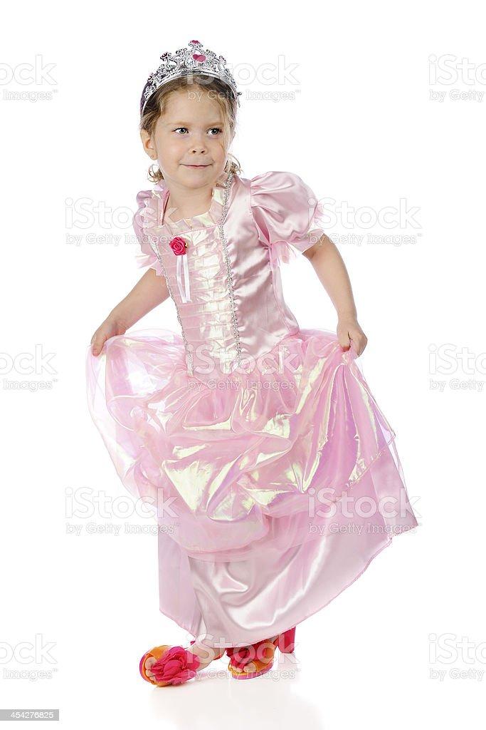Princess Curtsey royalty-free stock photo