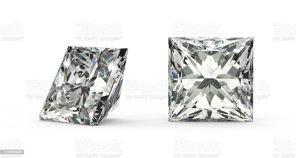 Princesa corte de diamante foto de stock libre de derechos