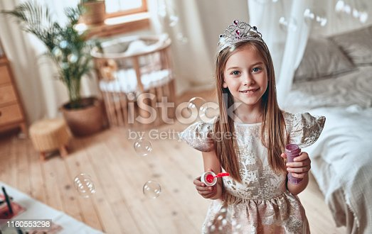 istock Princess girl at home 1160553298