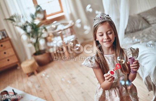 istock Princess girl at home 1160553377