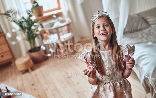 istock Princess girl at home 1160554352