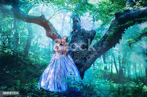578573556istockphoto Princess in magic forest 589581504