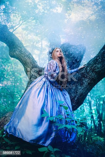 578573556istockphoto Princess in magic forest 589581722