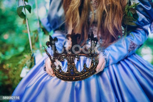 578573556istockphoto Princess in magic forest 589582116