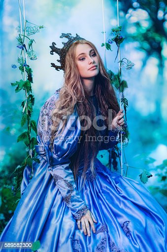 578573556istockphoto Princess in magic forest 589582300