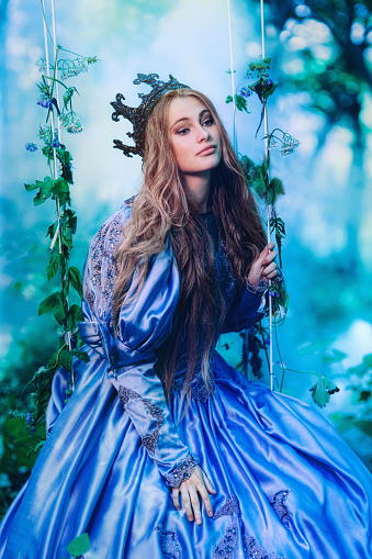 578573556 istock photo Princess in magic forest 589582300