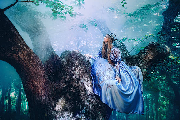 Princess in magic forest - Photo