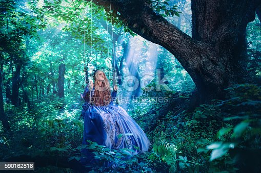 578573556istockphoto Princess in magic forest 590162816