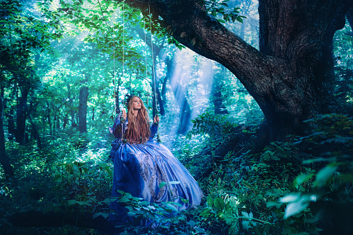 578573556 istock photo Princess in magic forest 590162816
