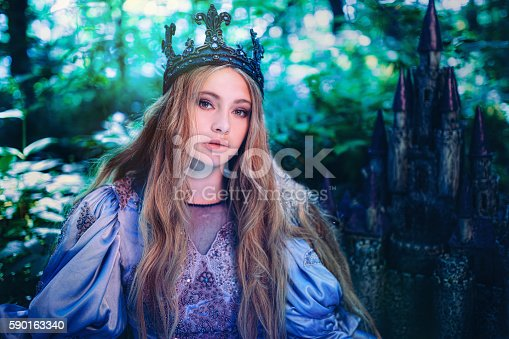 578573556istockphoto Princess in magic forest 590163340