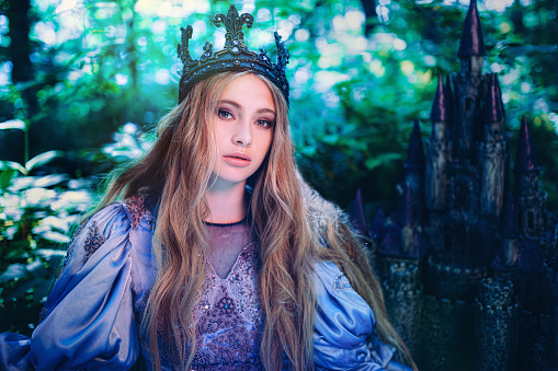 578573556 istock photo Princess in magic forest 590163340
