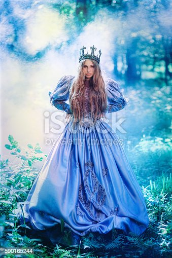 578573556istockphoto Princess in magic forest 590165244