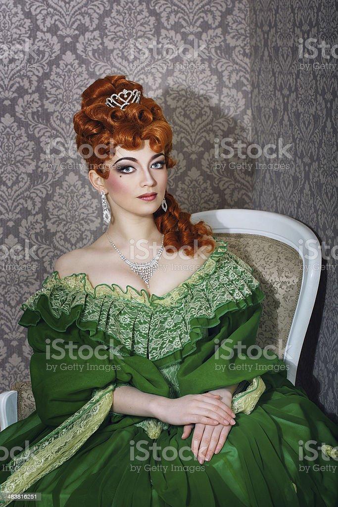 78f4839ec08 Photo libre de droit de Princesse En Magnifique Robe Verte banque d ...