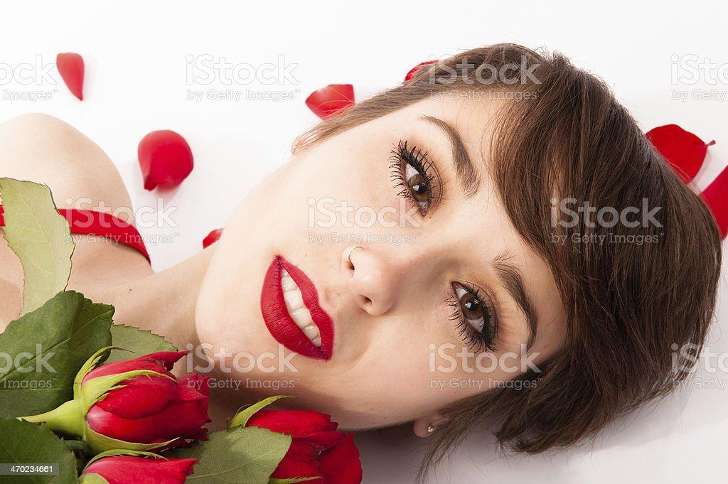 Princess of roses stock photo