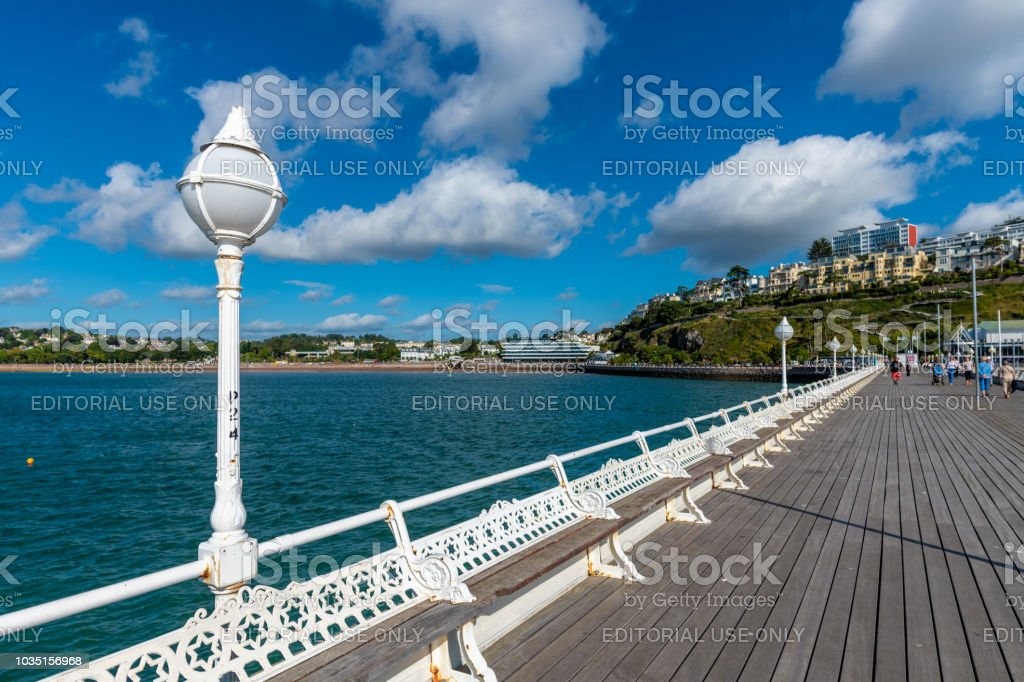 Princess Pier in Torquay, Devon stock photo