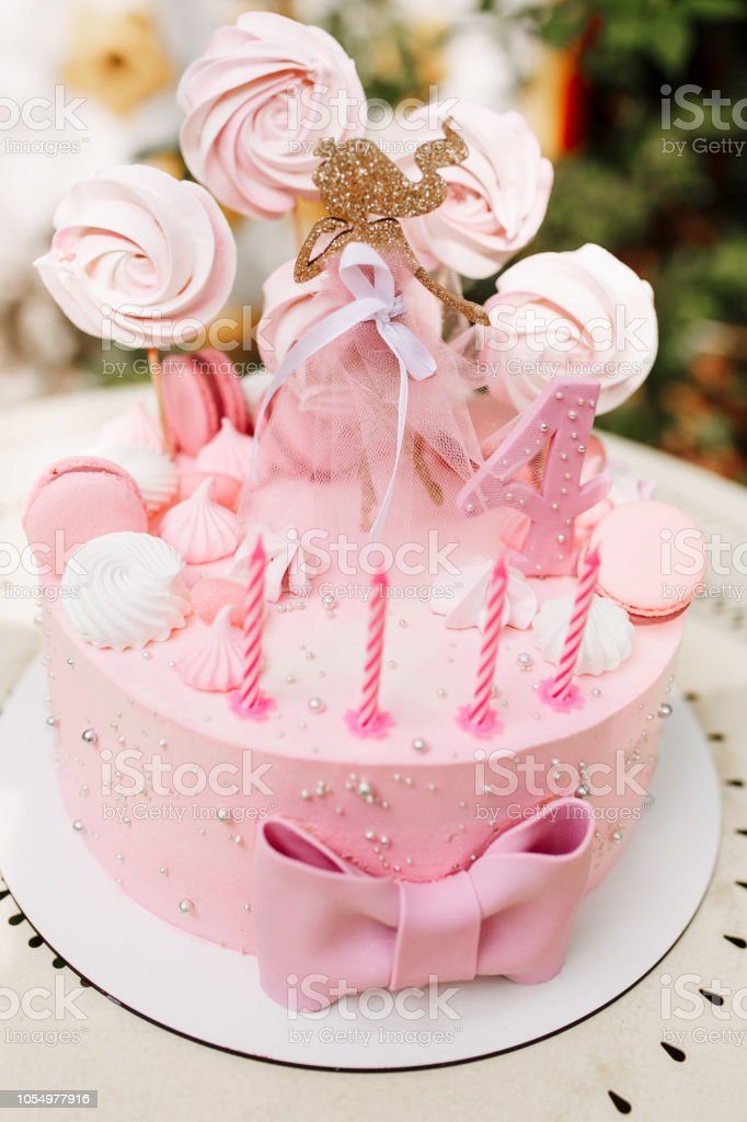 Brilliant Princess Pink Birthday Cake Stock Photo Download Image Now Istock Funny Birthday Cards Online Unhofree Goldxyz