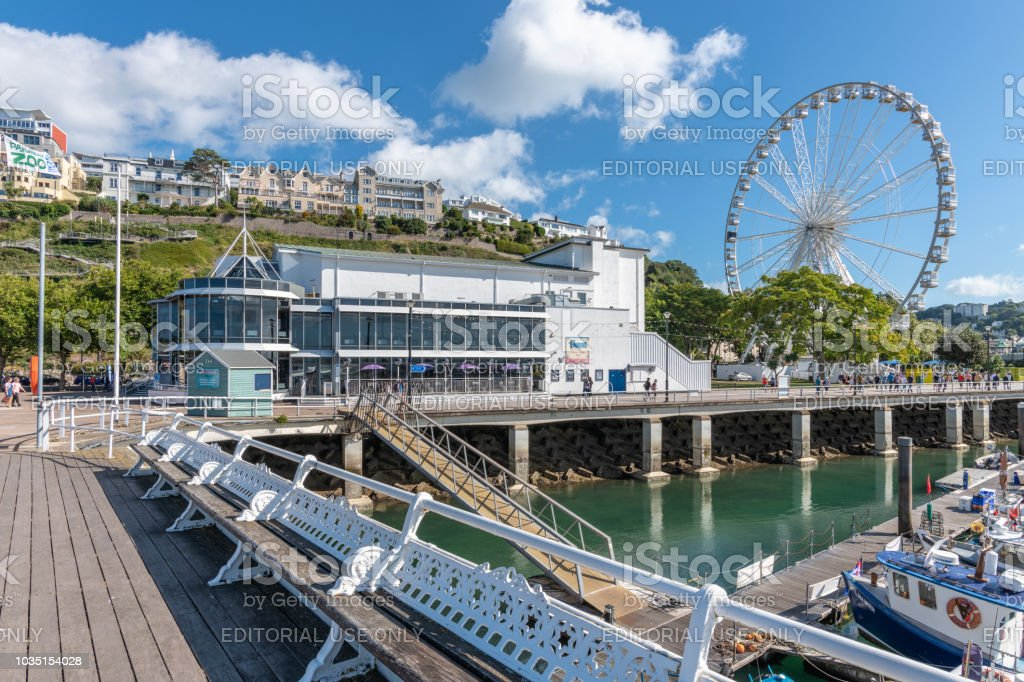 Princess Theatre building by the waterfront in Torquay, Devon stock photo