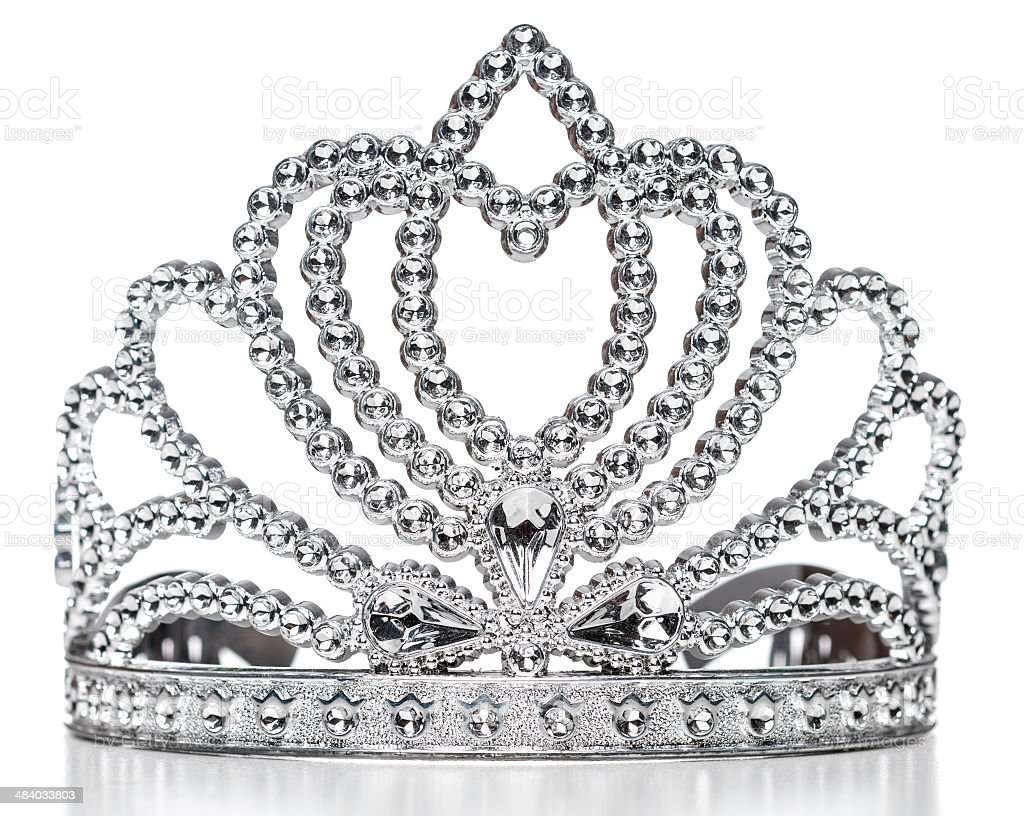 Princess tiara contestant crown stock photo