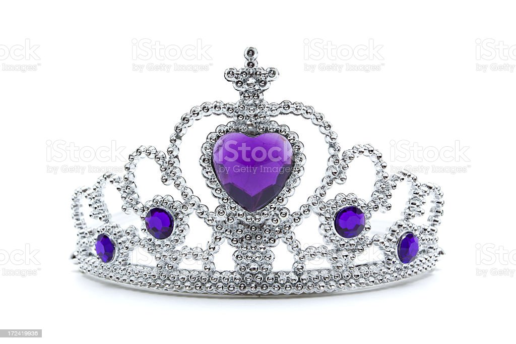 Princess Tiara Isolated on White background stock photo