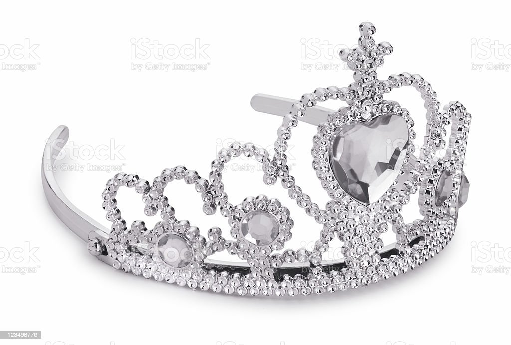 Princess Tiara on White royalty-free stock photo