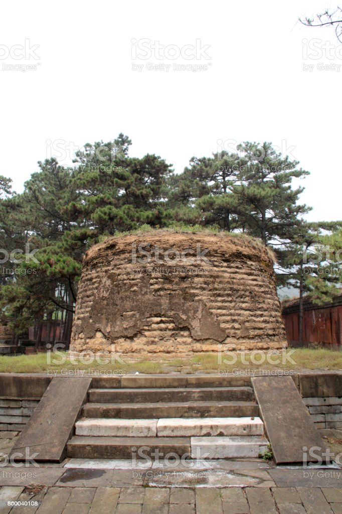 Princess tomb architecture landscape in the Eastern Royal Tombs of the Qing Dynasty on May 13, 2012, Zunhua City, Hebei Province, china stock photo