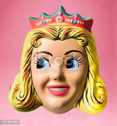 Princess Wearing Crown Halloween Mask