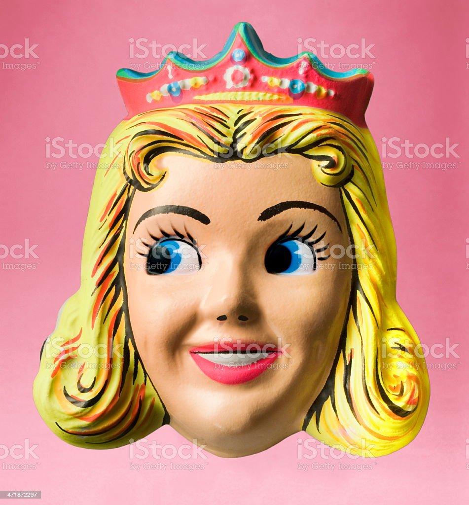 Princess Wearing Crown Halloween Mask stock photo