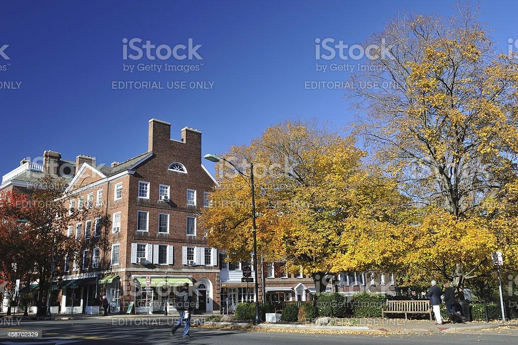 Princeton in Fall stock photo