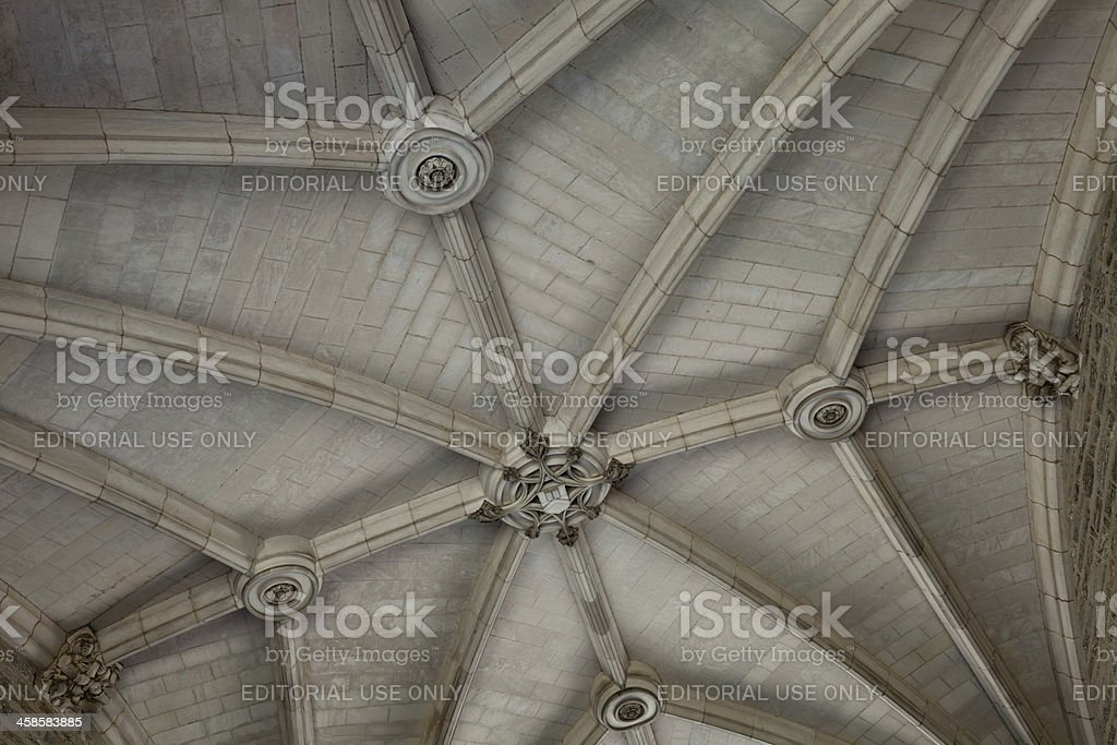 Princeton University Arched Ceiling Detail stock photo