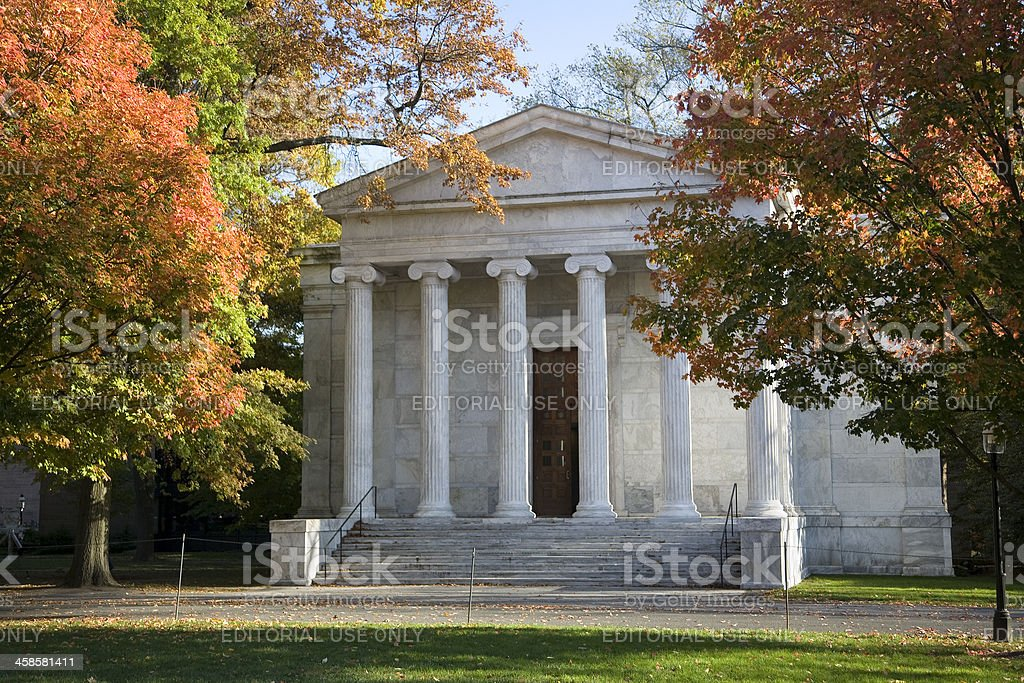 Princeton University Campus, Clio Hall in Autumn stock photo